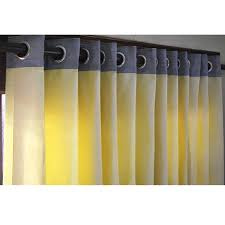 yellow and grey curtain panels 52x84 grommet