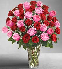 Red Flowers In A Vase Red Roses In Marquis By Waterford Vase 1800flowers Com 107042
