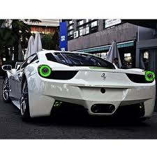 white with neon green lights luxury lifestyle