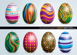 painted easter eggs painted easter eggs vector images 123freevectors