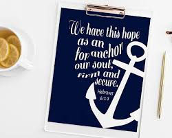 5x7 Love Anchors The Soul - hebrews 6 19 anchor for our soul art print sweetface co