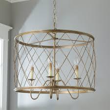 trellis cage drum chandelier shades of light