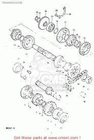 suzuki rm250 1984 e transmission schematic partsfiche