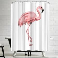 Flamingo Shower Curtains Pink Flamingo Shower Curtain Wayfair