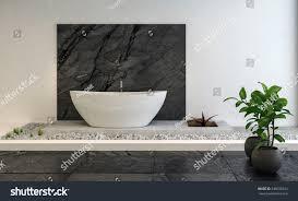 stylish luxury bathroom interior raised pebble stock illustration