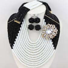 african beads necklace sets images New design nigerian wedding african beads jewelry set yellow jpg