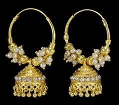 jhumka earrings traditional indian goldtone jhumka earrings beautiful