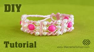 diy triple spiral knot bracelet with beads easy tutorial youtube