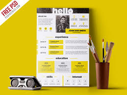 Free Graphic Resume Templates Creative And Elegant Resume Template Free Psd Psdfreebies Com