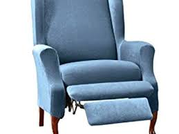 wing armchair covers sure fit stretch pique wing recliner