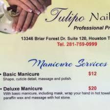 tulipo nails u0026 spa 15 photos nail salons 13346 briar forest