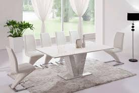 white marble dining table set white marble v leg dining table 6 z chairs marble kk furniture