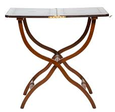 coffee table leather top english folding leather top coaching table northgate gallery