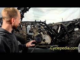 cyclepedia com suzuki eiger engine removal cleaning atv engine