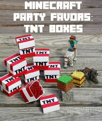 minecraft party favors tnt boxes