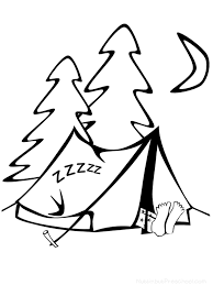 summer camp coloring page 25819 bestofcoloring com