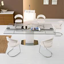 White Glass Kitchen Table by Extendable Dining Table For Your Needs Traba Homes