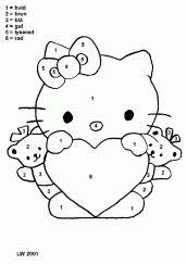 kitty valentines coloring pages card craft free