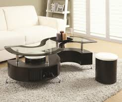 serpentine coffee table with stools cocktail tables seat n sleep