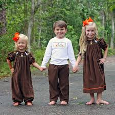 boys thanksgiving smocked pant set brown corduory smocked auctions