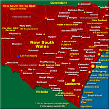 map of new south wales west new south wales map nsw australia