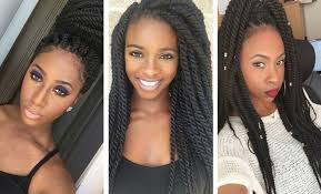 nubian hair long single plaits with shaved hair on sides 19 fabulous kinky twists hairstyles stayglam