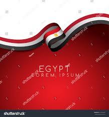 Egypt Flag Wallpaper Egypt Flag Ribbon Vector Illustration Stock Vector 417725593