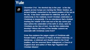 explore the pagan origins of christmas audio only youtube