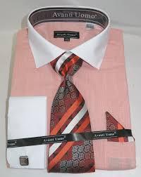 avanti dn73m coral men u0027s french cuff dress shirt u201clinen look