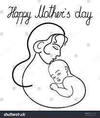 motherhappy mothers day cardmadonnasaint virgin mary stock vector