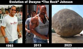 Rock Meme - evolution of dwayne the rock johnson weknowmemes