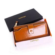 Cowhide Leather Purses Yafeige Women U0027s Large Capacity Oil Wax Cowhide Leather Purse