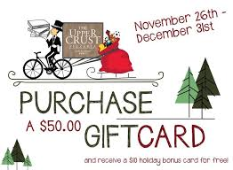 gift card specials gift card specials this season the crust pizzeria