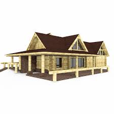 canadian wood log house 3d model cgtrader