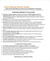 senior project manager cover letter best technical project