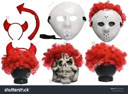 devil halloween background pack various halloween costumes devil stock photo 154510619