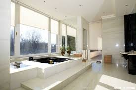 ideas for bathroom decoration master bathroom with polished marble shower and soaking bathtub