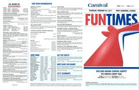 carnival liberty 3 day fun times feb 2 5 2017 carnival