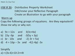 hw 36 distributive property worksheet edit revise your