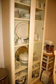 simcoe street ikea bookcase as a china cabinet