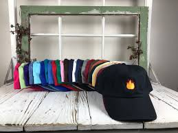 Furniture Emoji Lit Fire Emoji Hat Embroidered Baseball Cap Dad Hatlow