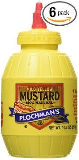 plochman s mustard buy plochmans yellow squeeze mustard 10 5 ounce squeeze barrel