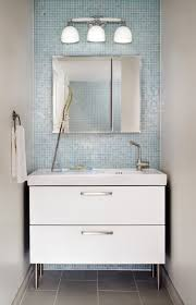 glass tile bathroom ideas limestone accent wall tile and satin nickel fixtures lend