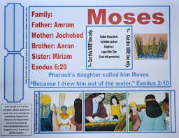 bible fun for kids moses birth marriage