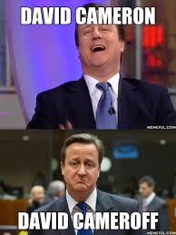 David Cameron Meme - david cameron before and after referendum