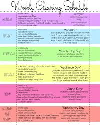 house cleaning schedule template family u2013 house plan 2017