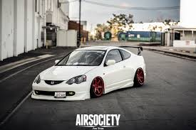 honda stance acura rsx honda integra air suspension ride bagged stance te37 004