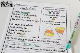 Halloween Candy Poem Free Candy Corn Reading Activities A Teachable Teacher