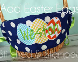 easter basket liners personalized personalized easter basket liner etsy
