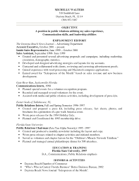Sample Resume Objectives Accounting by Sample Resume For Leadership Position Cover Letter Substitute